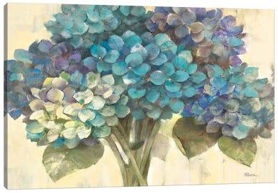 Turquoise Hydrangea Canvas Art Print