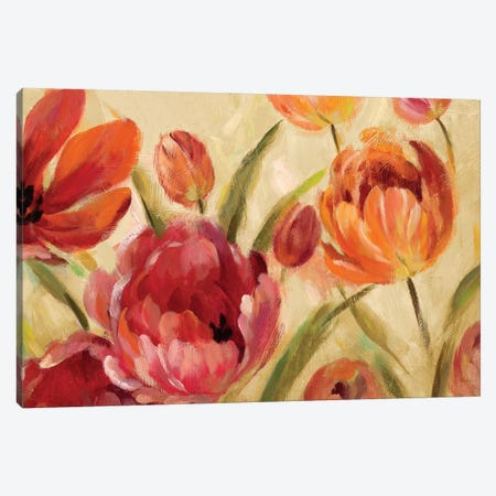 Expressive Tulips Canvas Print #WAC6300} by Silvia Vassileva Canvas Print