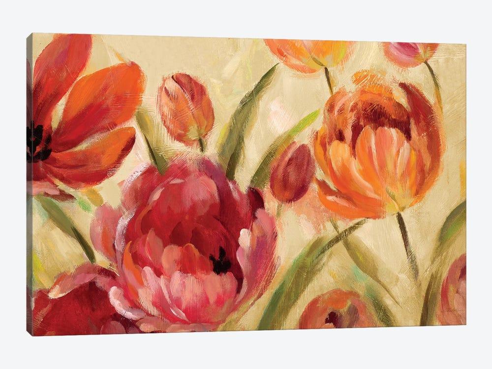 Expressive Tulips by Silvia Vassileva 1-piece Canvas Art