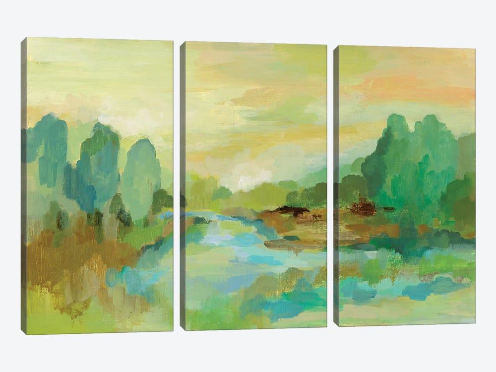 Jade Forest by Silvia Vassileva 3-piece Canvas Print