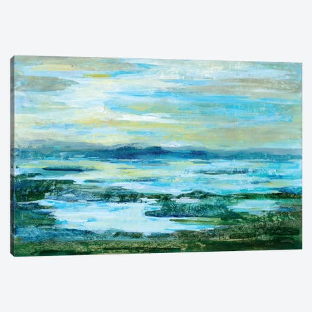 Northern Lake Green Canvas Print #WAC6307} by Silvia Vassileva Canvas Artwork