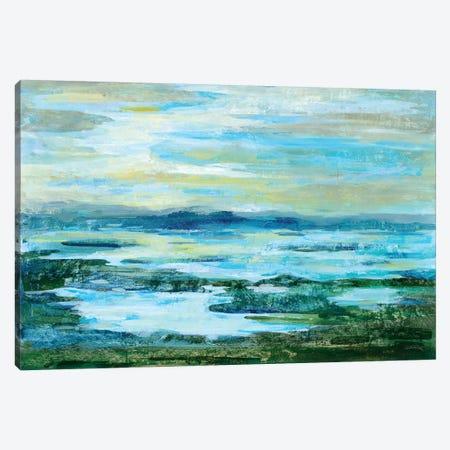 Northern Lake Green Canvas Print #WAC6307} by Silvia Vassileva Canvas Artwork