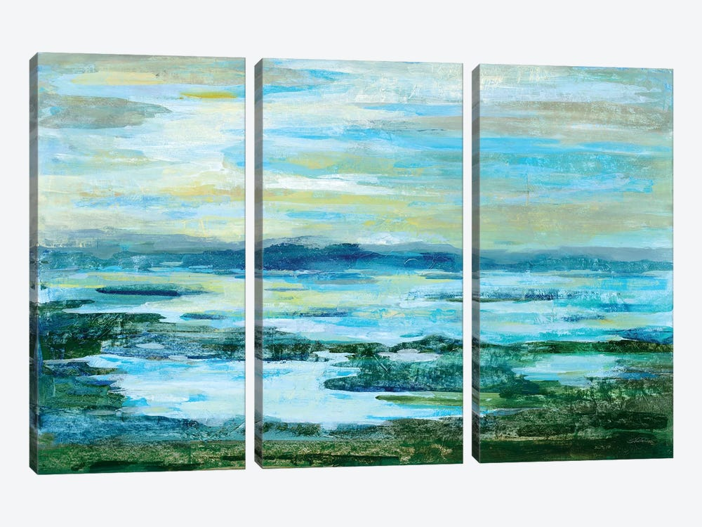 Northern Lake Green 3-piece Canvas Print