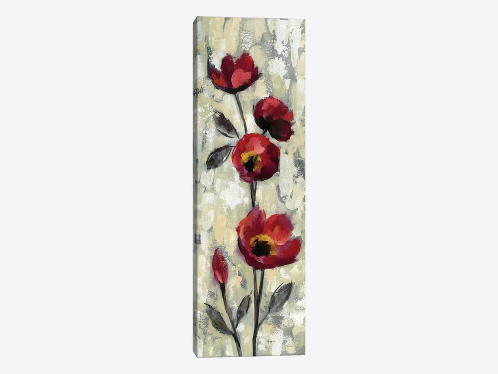 Simple Red Floral I by Silvia Vassileva 1-piece Canvas Artwork