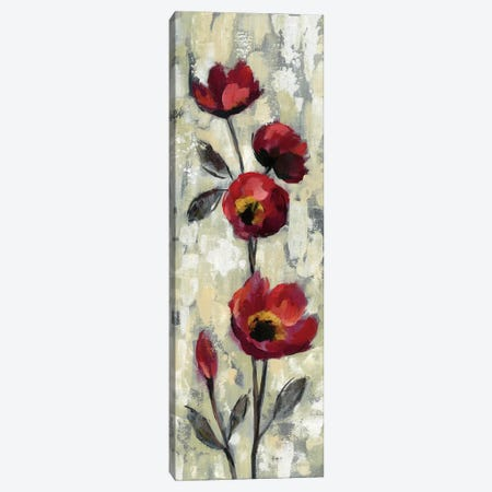 Simple Red Floral I Canvas Print #WAC6311} by Silvia Vassileva Canvas Wall Art