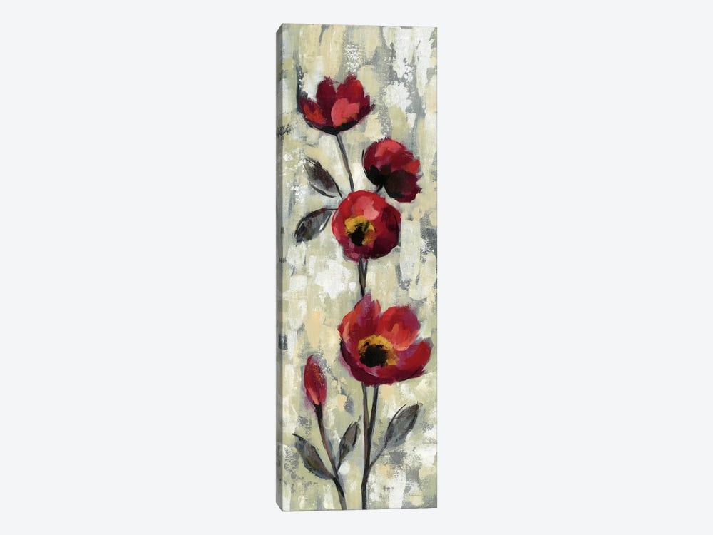 Simple Red Floral I by Silvia Vassileva 1-piece Canvas Artwork