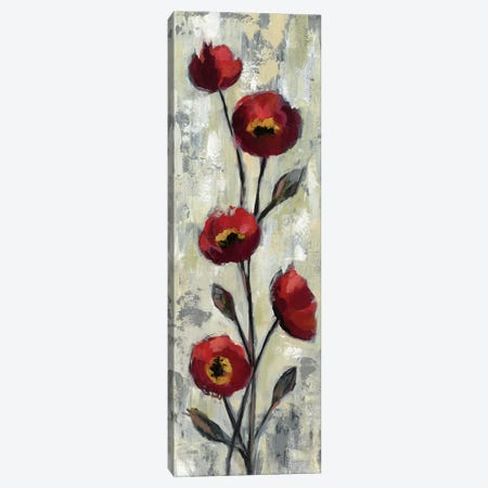 Simple Red Floral II Canvas Print #WAC6312} by Silvia Vassileva Canvas Wall Art