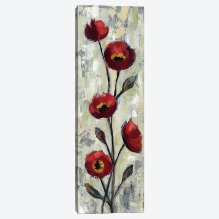 Simple Red Floral II Canvas Print #WAC6312} by Silvia Vassileva Canvas Wall Art