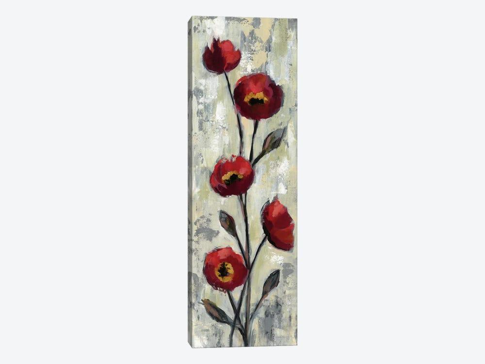 Simple Red Floral II by Silvia Vassileva 1-piece Art Print