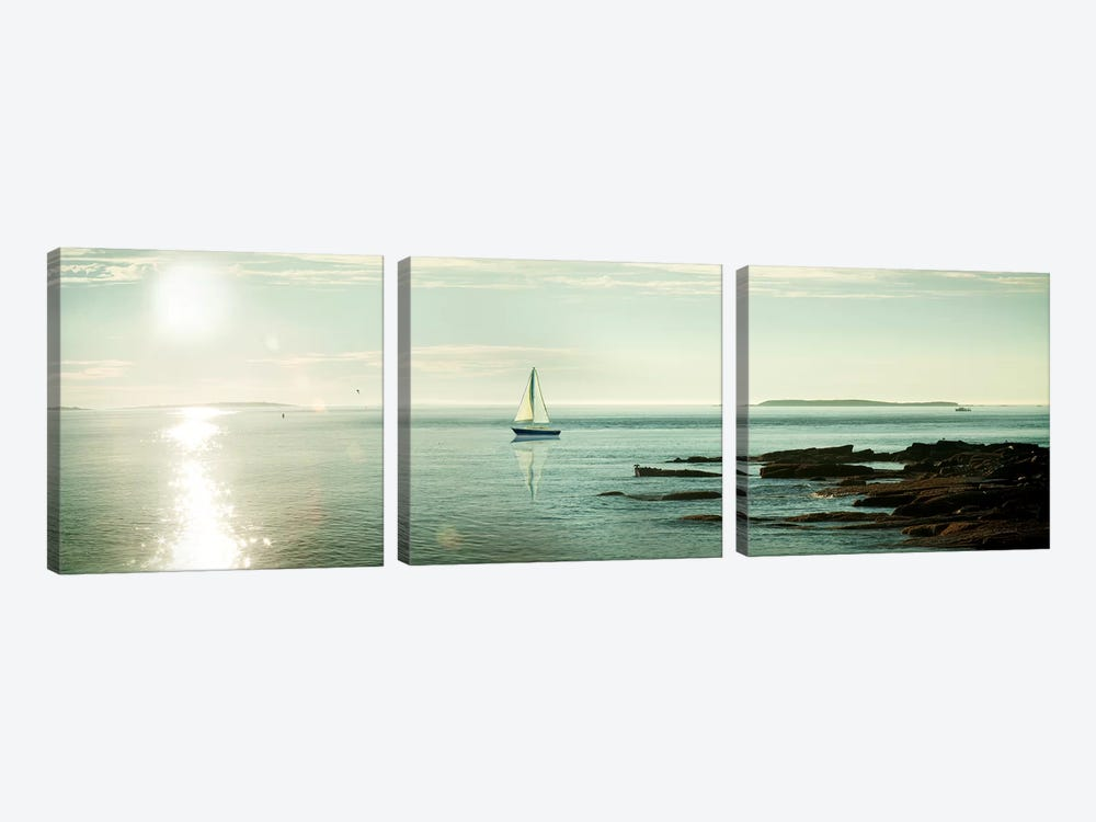 Evening Sail by Sue Schlabach 3-piece Canvas Art Print