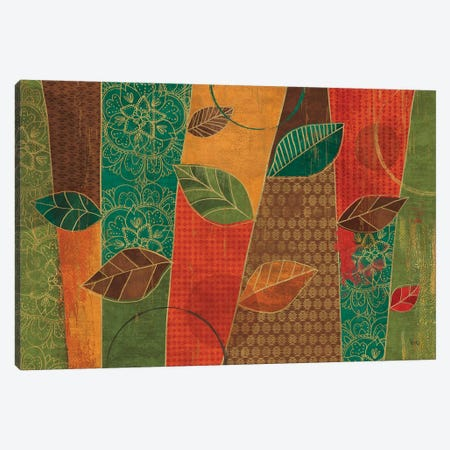 Bohemian Leaves I Canvas Print #WAC6318} by Veronique Charron Canvas Artwork