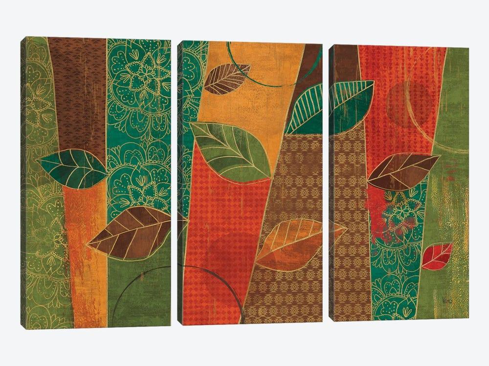 Bohemian Leaves I by Veronique Charron 3-piece Canvas Print