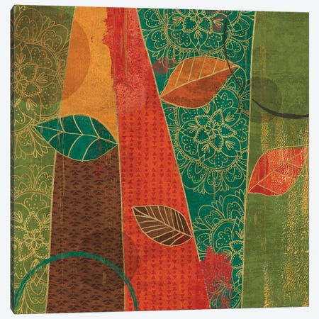 Bohemian Leaves II Canvas Print #WAC6319} by Veronique Charron Canvas Art