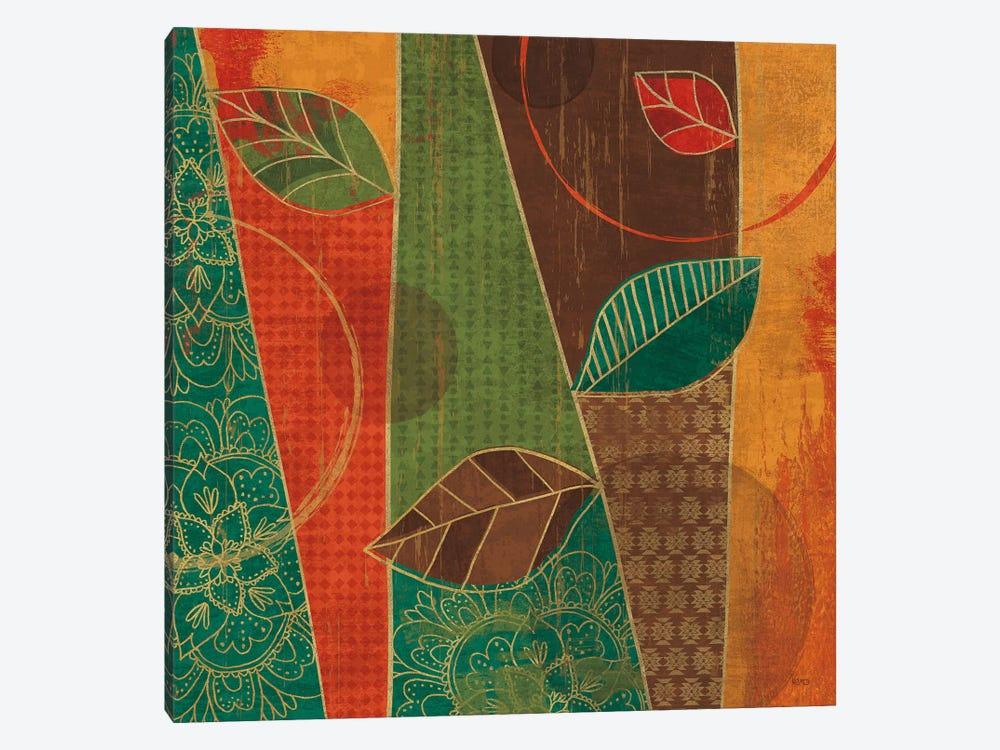 Bohemian Leaves III by Veronique Charron 1-piece Canvas Wall Art