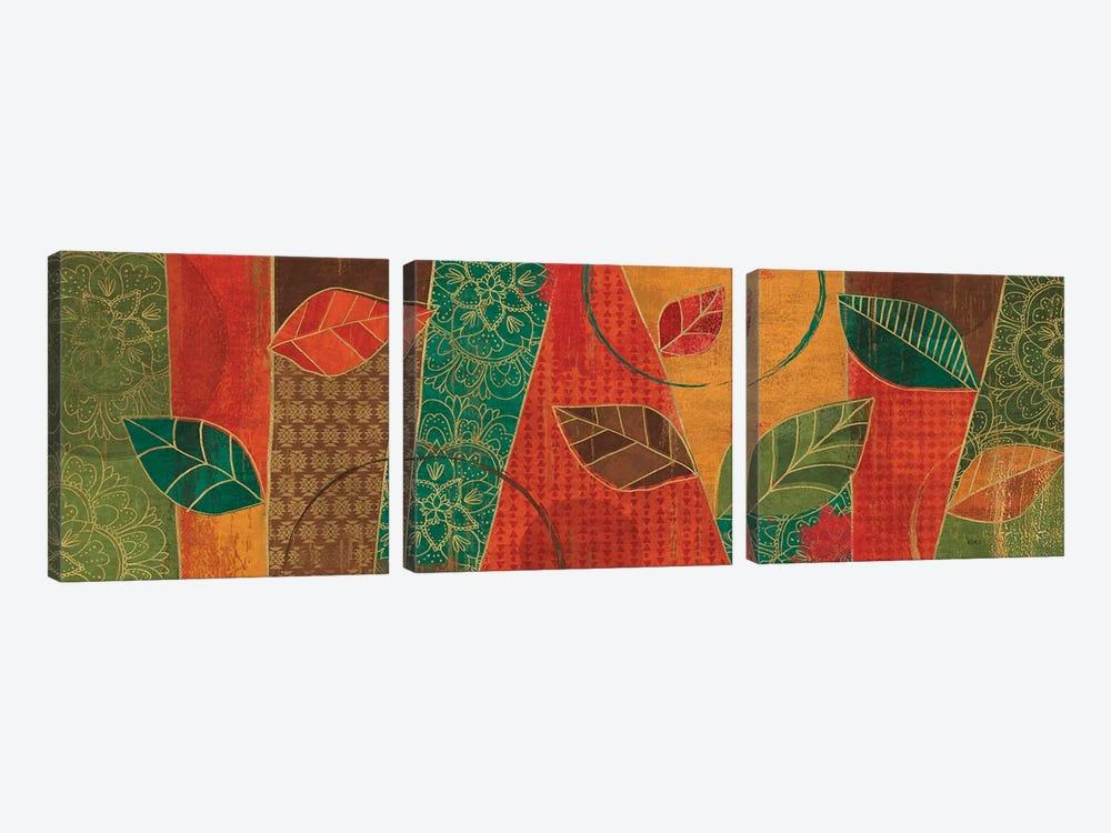 Bohemian Leaves IV by Veronique Charron 3-piece Art Print