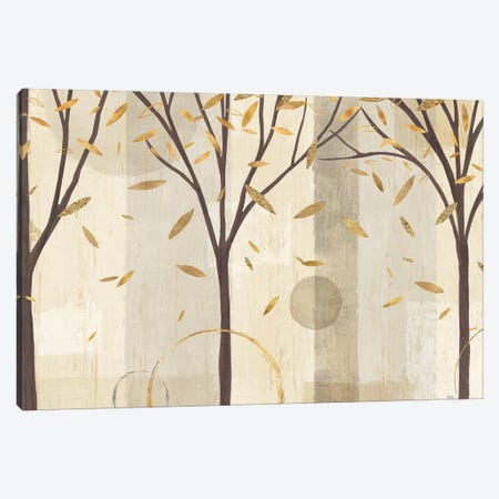 Golden Watercolor Forest I Canvas Print #WAC6326} by Veronique Charron Canvas Art