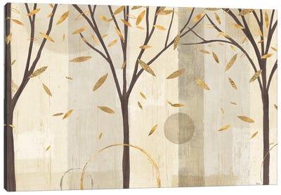Golden Watercolor Forest I Canvas Art Print