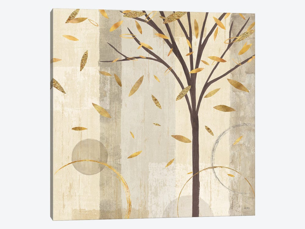 Golden Watercolor Forest III by Veronique Charron 1-piece Canvas Print