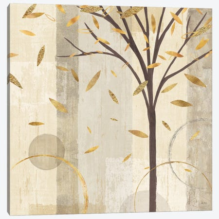 Golden Watercolor Forest III Canvas Print #WAC6327} by Veronique Charron Canvas Wall Art