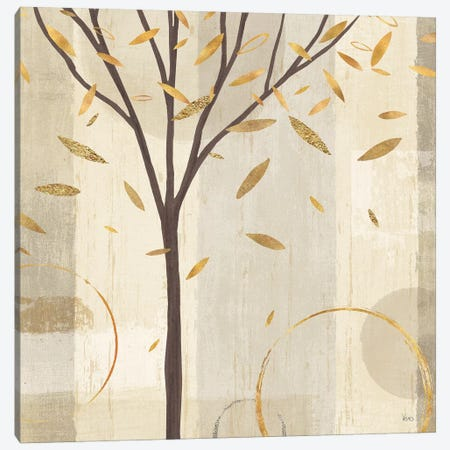 Golden Watercolor Forest IV Canvas Print #WAC6328} by Veronique Charron Canvas Art Print