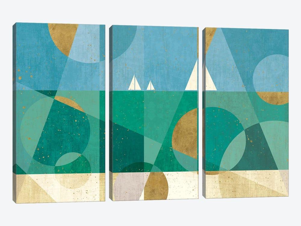 Seascape I by Veronique Charron 3-piece Canvas Art Print