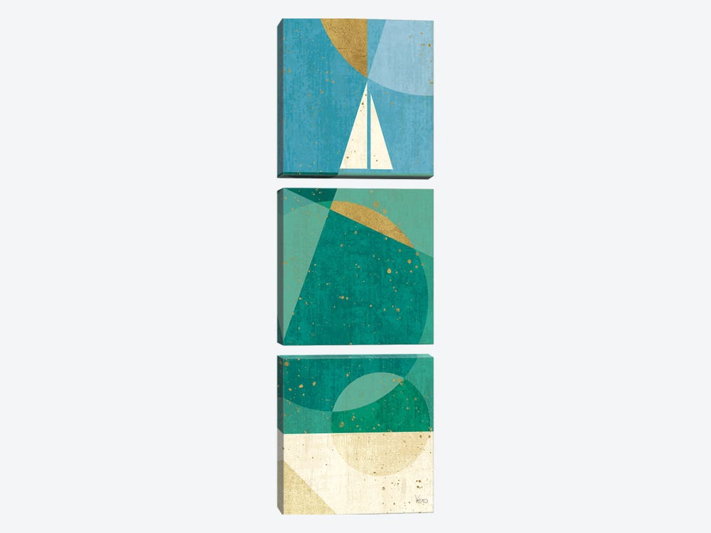 Seascape II by Veronique Charron 3-piece Art Print