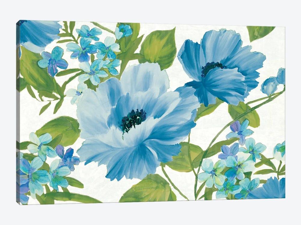 Blue Summer Poppies by Wild Apple Portfolio 1-piece Canvas Print
