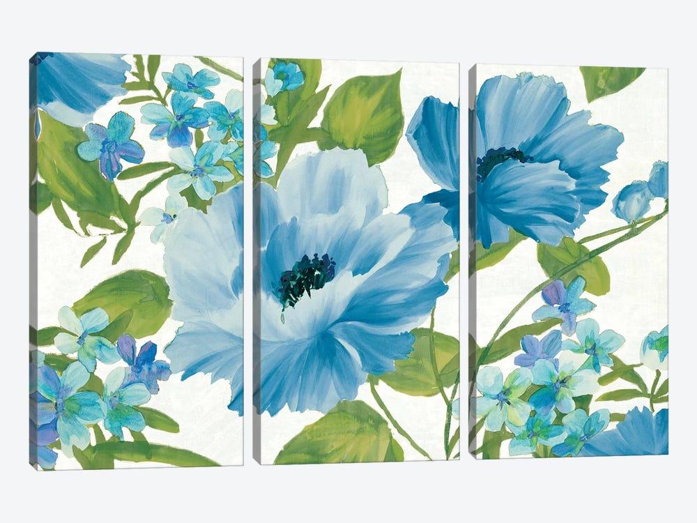 Blue Summer Poppies by Wild Apple Portfolio 3-piece Canvas Art Print