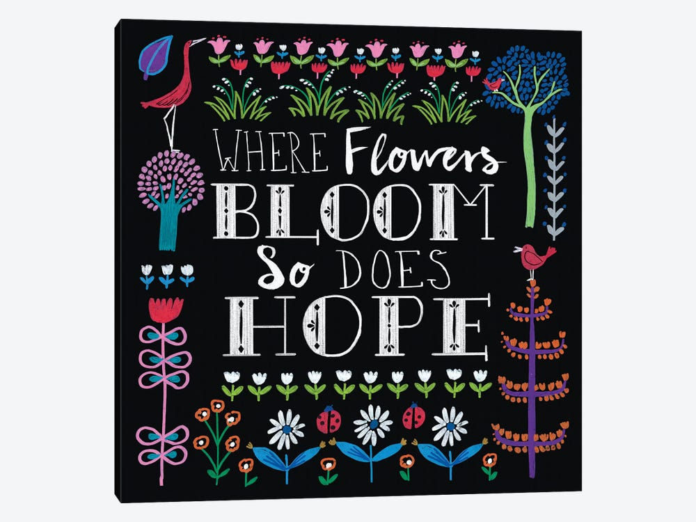 Bright Folklore Inspiration II by Wild Apple Portfolio 1-piece Canvas Print