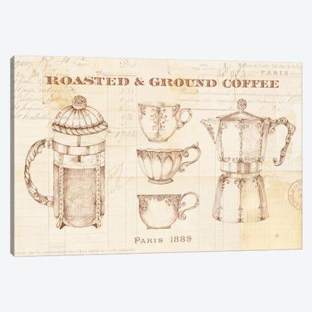 Authentic Coffee I Canvas Print #WAC6338} by Daphne Brissonnet Canvas Art