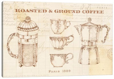 Authentic Coffee I Canvas Art Print