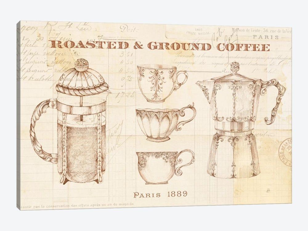 Authentic Coffee I by Daphne Brissonnet 1-piece Canvas Art Print