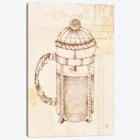 Authentic Coffee II Canvas Print #WAC6339} by Daphne Brissonnet Canvas Artwork