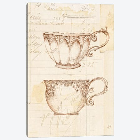 Authentic Coffee V Canvas Print #WAC6342} by Daphne Brissonnet Art Print