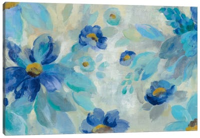 Blue Flowers Whisper I Canvas Print #WAC6343