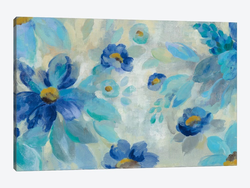 Blue Flowers Whisper I by Silvia Vassileva 1-piece Art Print