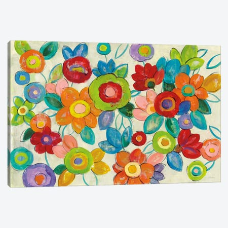 Bright Decorative Flowers I Canvas Print #WAC6346} by Silvia Vassileva Canvas Artwork