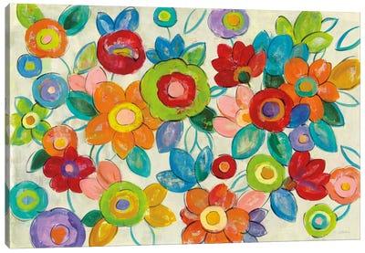 Bright Decorative Flowers I Canvas Print #WAC6346