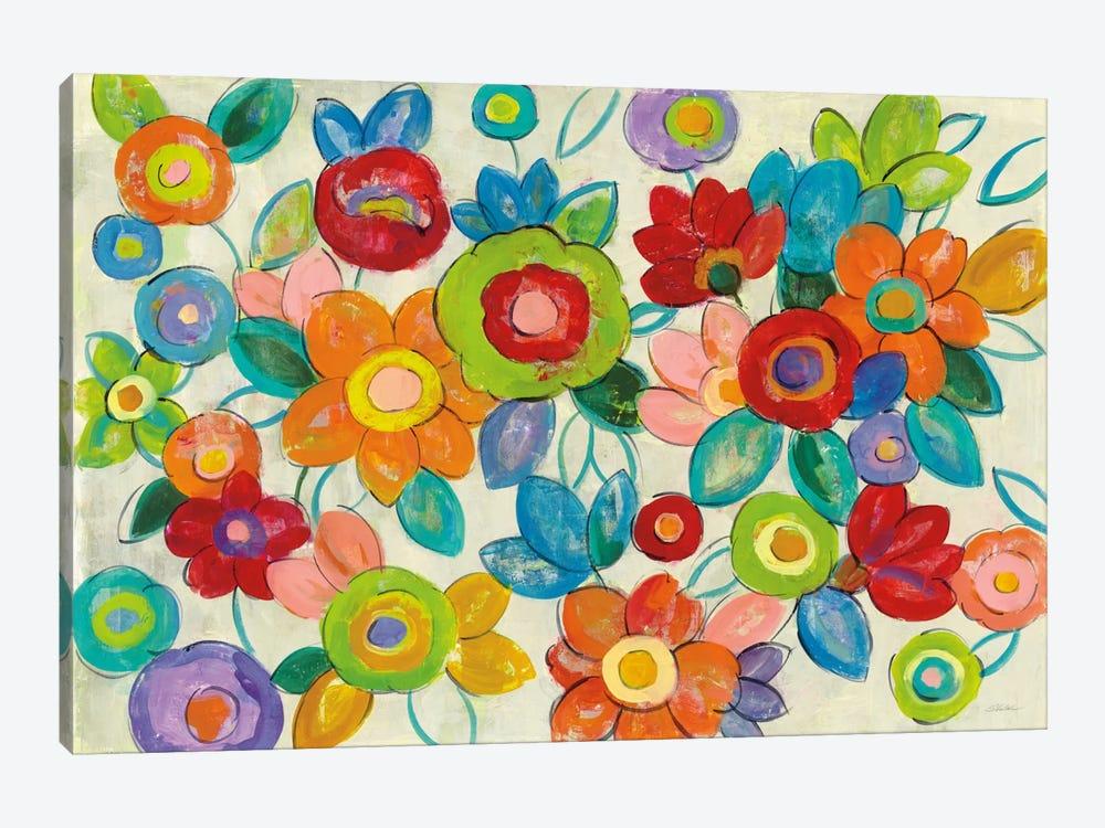 Bright Decorative Flowers I by Silvia Vassileva 1-piece Canvas Wall Art