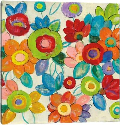 Bright Decorative Flowers II Canvas Print #WAC6347