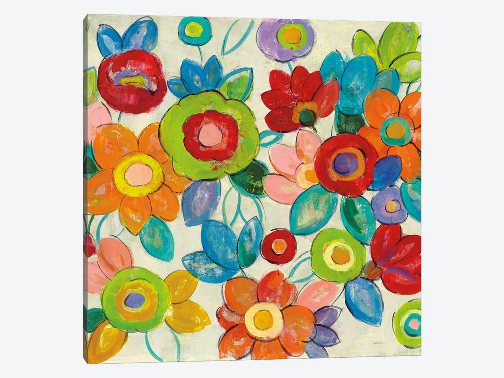 Bright Decorative Flowers II by Silvia Vassileva 1-piece Art Print