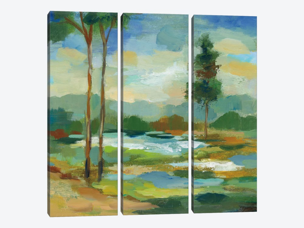 Early Spring Landscape I 3-piece Canvas Art Print