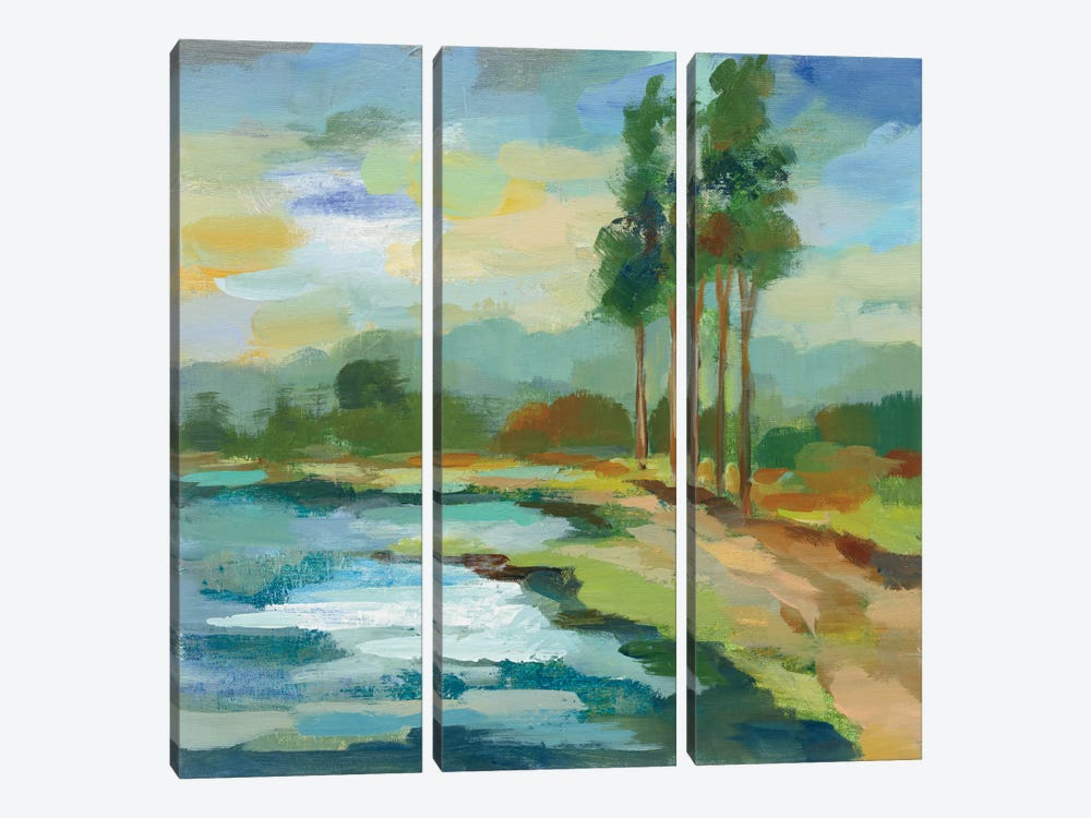 Early Spring Landscape II by Silvia Vassileva 3-piece Canvas Art