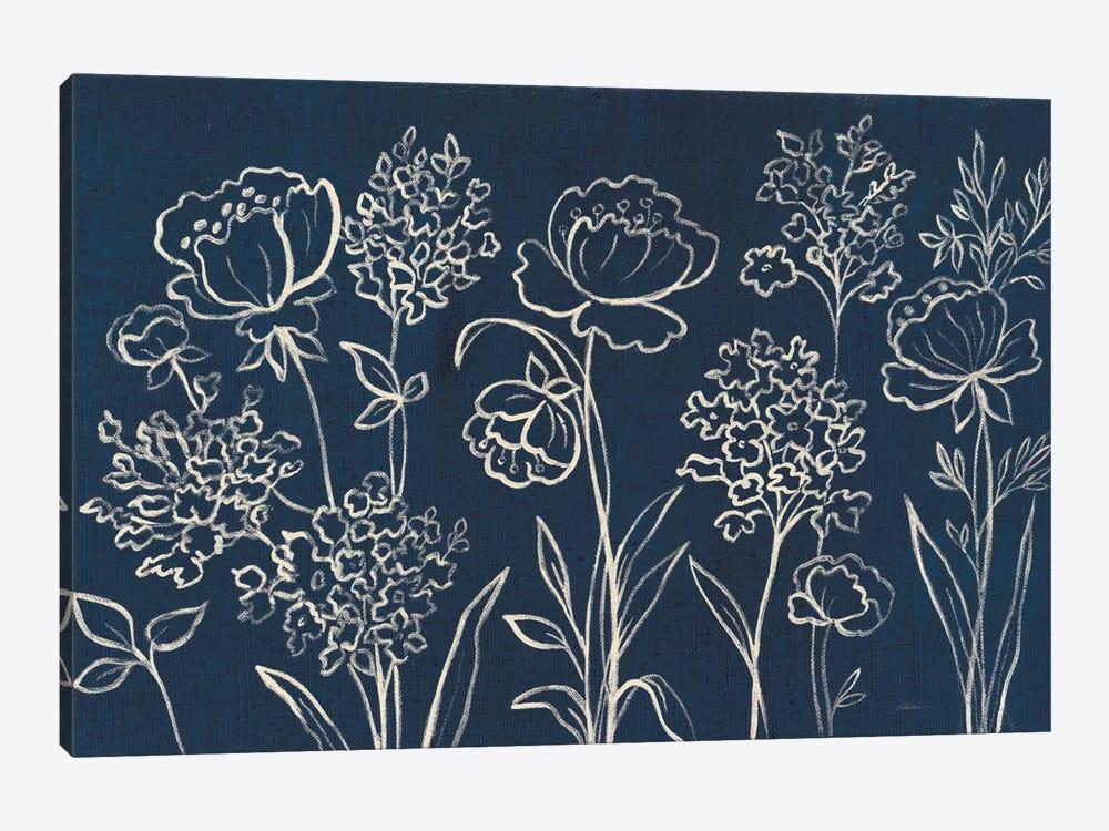 Indigo Floral I by Silvia Vassileva 1-piece Art Print