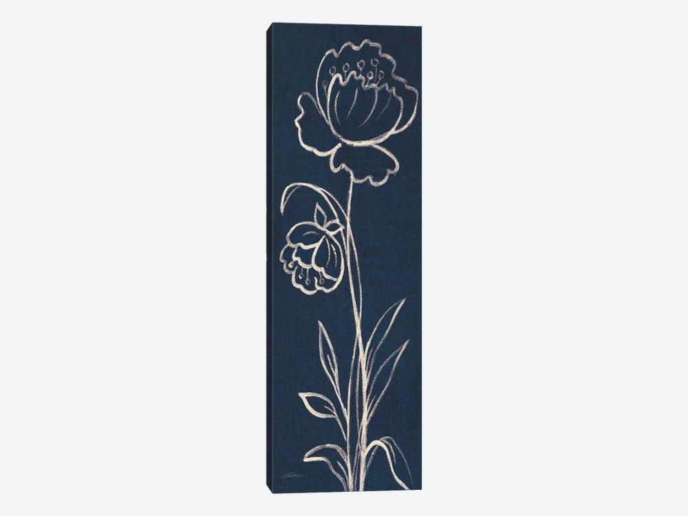 Indigo Floral II by Silvia Vassileva 1-piece Canvas Art