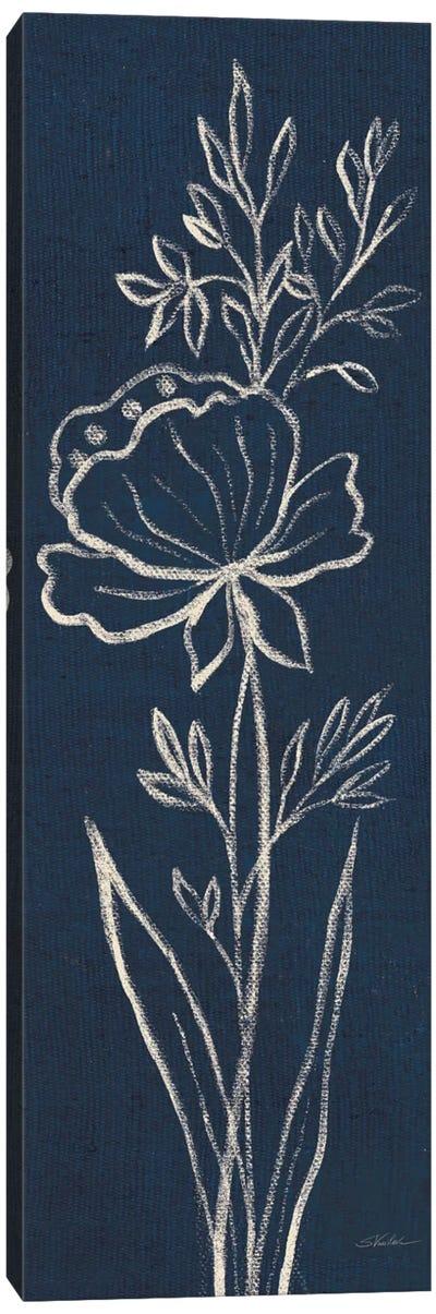 Indigo Floral III Canvas Art Print