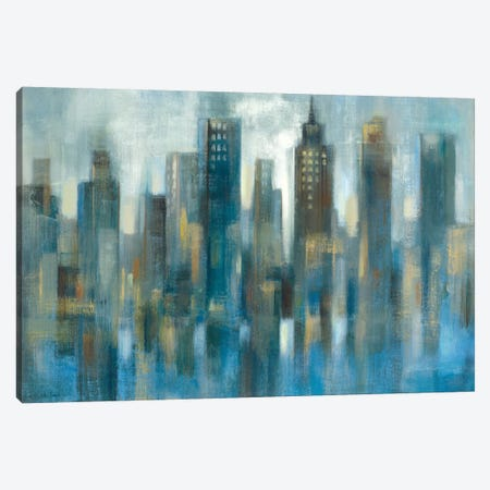 Light Rhythmic Reflection Canvas Print #WAC6370} by Silvia Vassileva Canvas Artwork