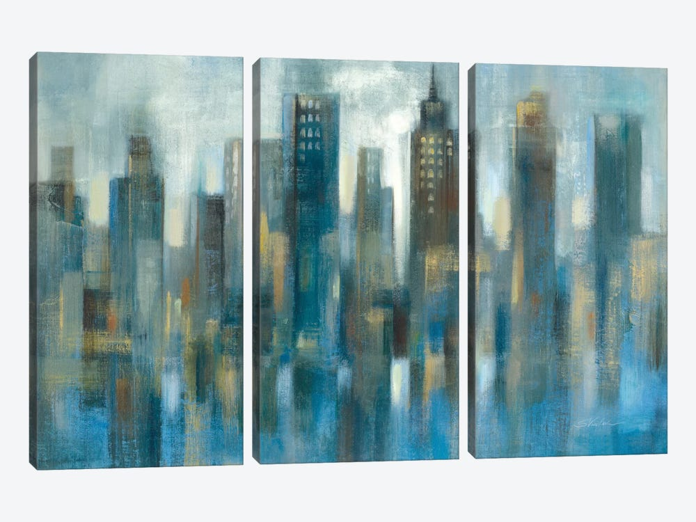 Light Rhythmic Reflection by Silvia Vassileva 3-piece Art Print