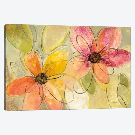 Neon Floral I Canvas Print #WAC6371} by Silvia Vassileva Canvas Wall Art