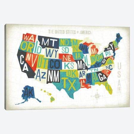 USA Canvas Print #WAC6374} by Michael Mullan Art Print